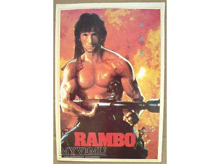 Duże zdjęcie Sylvester Stallone 1991 Rambo i znaczki z Chin