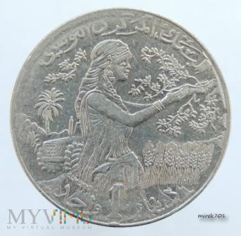 Tunezja 1 dinar 1990