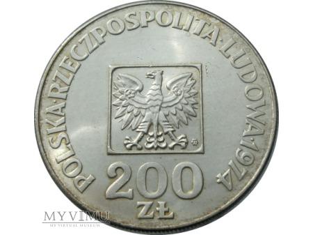 200 Złotych, XXX Lat PRL, 1974 rok.