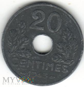 20 CENTIMES 1943