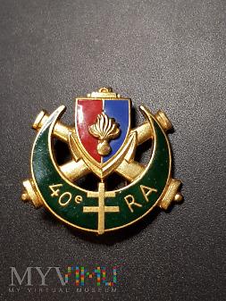 40 Pułk Artylerii Francuskiej - Odznaka Pamiątkowa