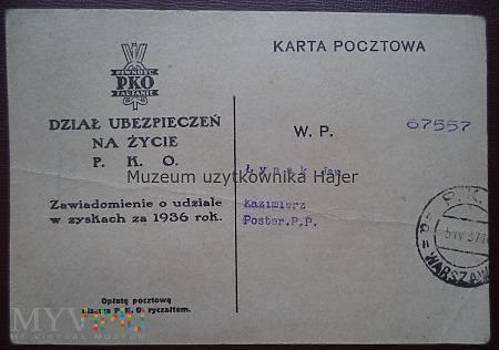 1937 - PKO Dział Ubezpieczeń na Życie