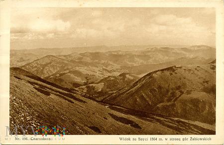 Czarnohora - widok ze Spyci (Nr 196)
