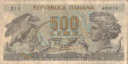 Włochy - 500 lirów (1966)