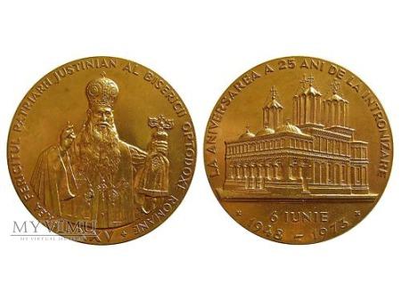 Patriarcha Justinian Rumunia medal brązowy 1973