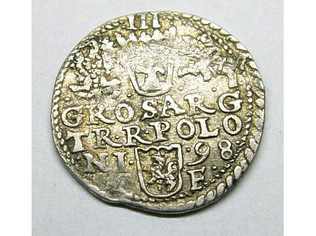 Trojak mennica Olkusz- 1598 r-ładny