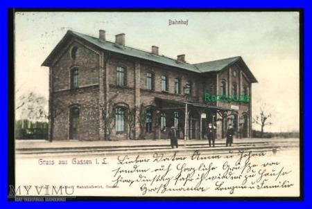 JASIEŃ Gassen Jarotschin Dworzec kolejowy