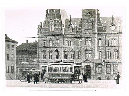 Duże zdjęcie Tramwaj nr 9 na Placu Fryderyka Wilhelma