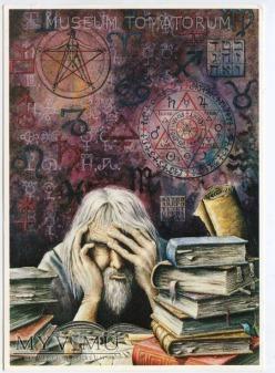Kilian - Faust czytający tajemne księgi