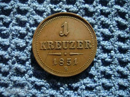 Austria 1 Kreuzer 1851B