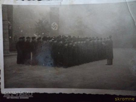 szkółka Kriegsmarine Kruszwica -kadeci na apelu-