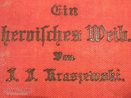 książka Kraszewskiego napisana niemieckim gotykiem