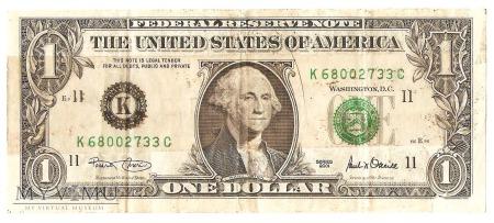 1 Dolar, 2001 rok.