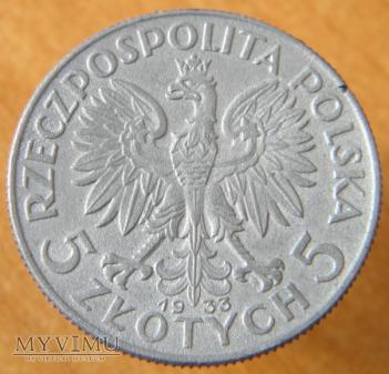 5 zł fałszywe z 1933