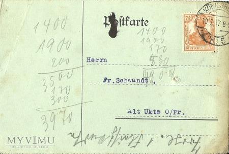 A. Hiller Konigsberg 10.071917 r.