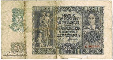 banknoty polskie rok1940
