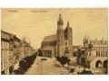 Kraków - Rynek - Kościół Mariacki - 1900