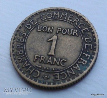 1 FRANC 1922