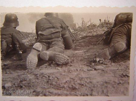 Żołnierze podczas walki 1939