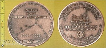 Medal kolejowy linii Herby - Częstochowa