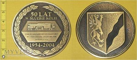 Medal kolejowy - firmowy ZNI Stargard Szcz.