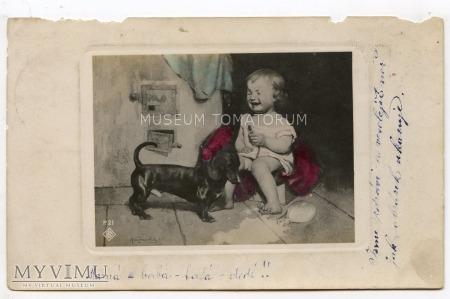 Dachshund - Jamnik przyjacielem dzieci - 1921