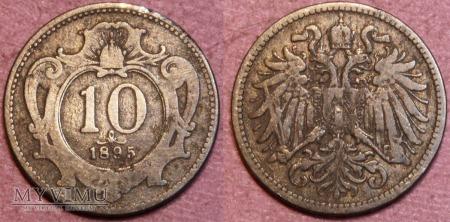 Austria, 10 Heller 1895