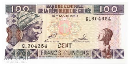 Gwinea - 100 franków (1998)