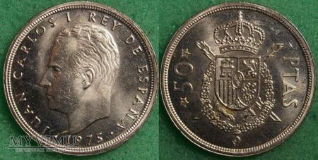 Hiszpania, 50 peset 1975