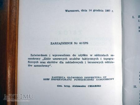 ZBIÓR UMOWNYCH ZNAKÓW TAKTYCZN. i TOPOGRAF. - 1968