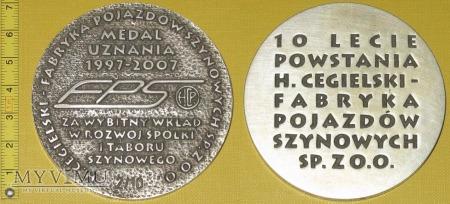 Medal kolejowy - firmowy HCP FPS Poznań