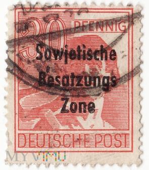 Deutsche Post, 10 Pfennig - Sowjetische zone