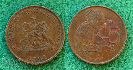 Trynidad i Tobago, 5 CENTS 1992