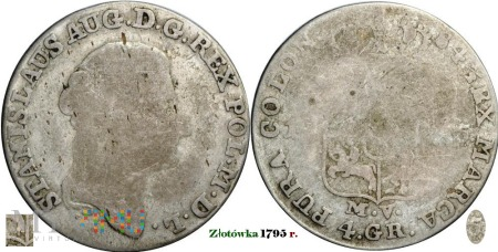 4 Grosze Koronne 1795 r