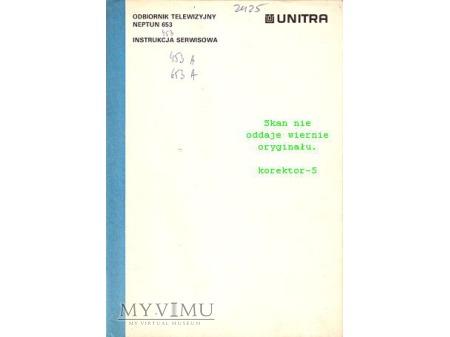 Instrukcja serwisowa TV NEPTUN 653