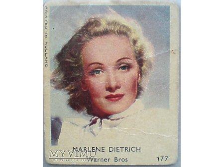 Duże zdjęcie Marlene Dietrich Karta GUMY do żucia VAL nr 177