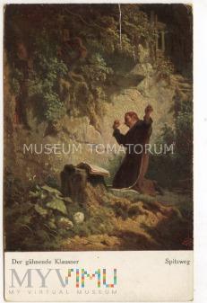 Monk zakonnik - Ziewanie - Spitzweg