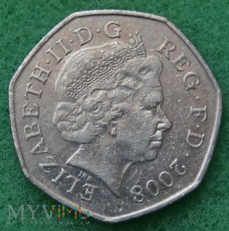 Wielka Brytania, 50 pence 2008