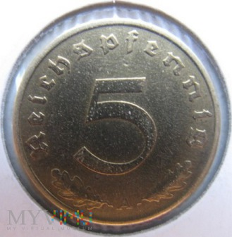 Duże zdjęcie 5 reichspfennigów 1937 r Niemcy (Trzecia Rzesza)