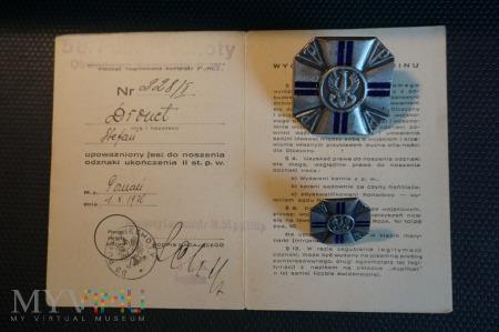 Legitymacja i odznaki Przysposobienia Wojskowego