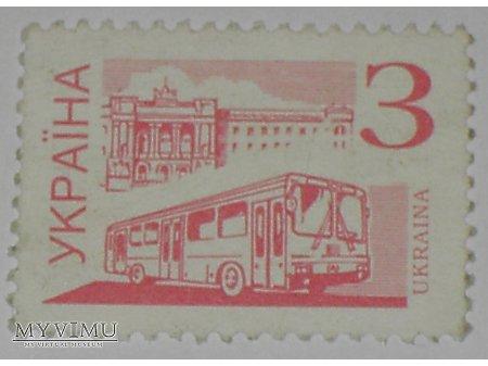Autobus ukraiński znaczek