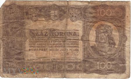 WĘGRY 100 KORON 1923