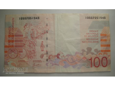 100 FRANK - Belgia (1995 - 2001)
