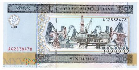 Azerbejdżan - 1 000 manatów (2001)