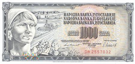 Jugosławia - 1 000 dinarów (1981)