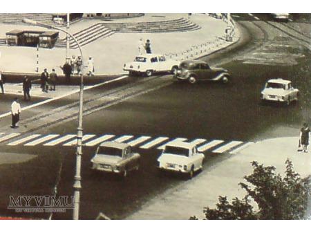 Warszawa Plac Trzech Krzyży PRL ok. 1966