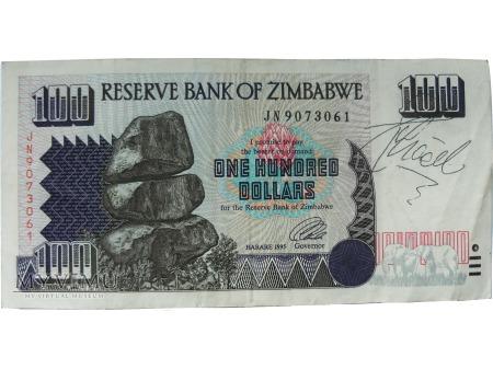 100 Dolarów, Zimbabwe, 1995 rok.