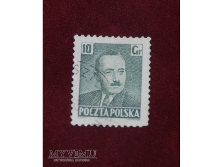 Bolesław Bierut. 10 groszy.