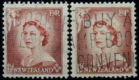 Nowa Zelandia 1 1/2 D Elżbieta II