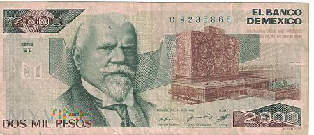 Meksyk - 2 000 pesos (1987)